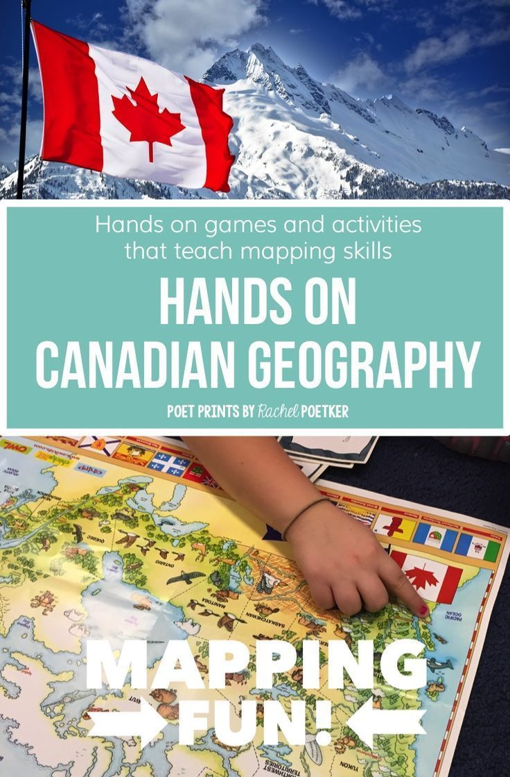 Canada Unit, Hands On Mapping Games   Social Studies/History