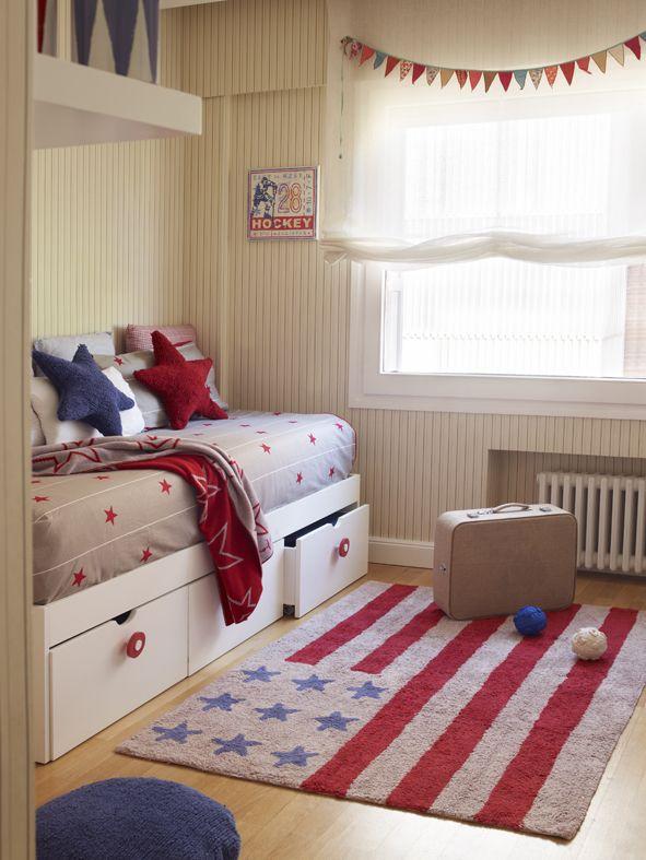 Washable rug American Flag / Alfombra lavable Bandera Americana  Lorena Canals
