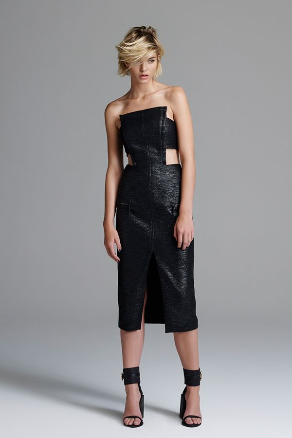 Magie Noire Strapless Dress