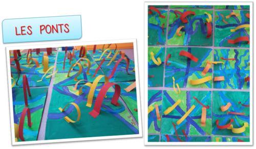 Graphisme, collage, actions plastiques: les ponts