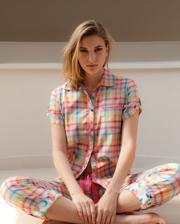 Bernadette Check Pyjamas, a young and fun style perfect to take you into summer festivals...