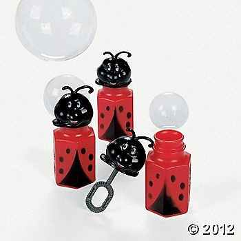 Ladybug bubbles for favors.