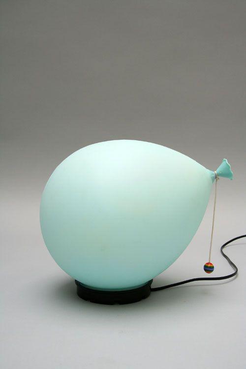 Name : Balloon lamp; Color : Pale blue Designer : Yves Christin Manufacture : Bilumen