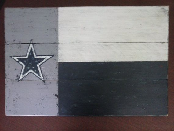 Dallas Cowboys wood flag--handmade from rustic cedar planks