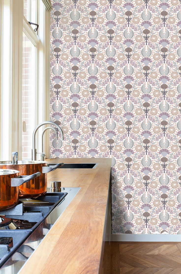Thistle Wallpaper by SDS Design