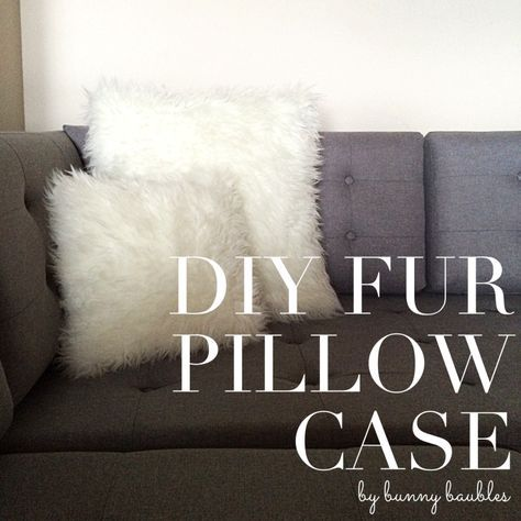 Make a removable faux fur pillow case that's washable - full DIY tutorial!