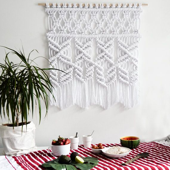 Pur Marcame Wallhanging / macramé moderne / textile / tapisserie