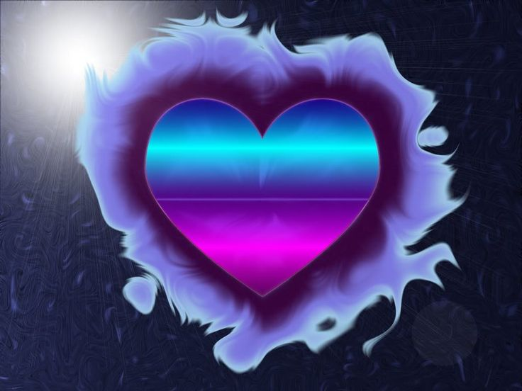Free Neon Rainbow Hearts Wallpaper