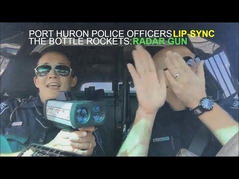 Port Huron Police Officer lip-sync Karaoke Challenge The Bottle Rockets - Radar Gun - YouTube