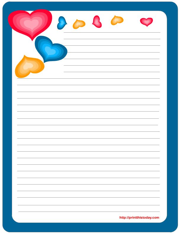 printable stationery | Free Printable Valentine Stationery | Print This Today