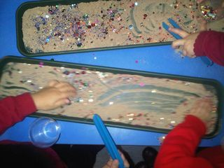 (Tweezers in sand) Continuous Provision in Year 2!