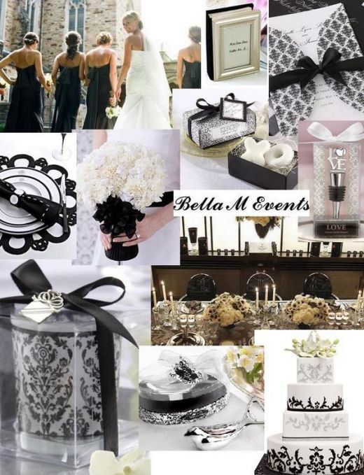 Simple Black & White Concept with touch of Ivory!