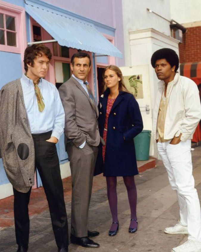 Michael Cole as 'Pete Cochren', Tige Andrews as 'Captain Adam Greer', Peggy Lipton as 'Julie Barnes' & Clarence Williams III as 'Linc Hays' in The Mod Squad (1968-73, ABC)