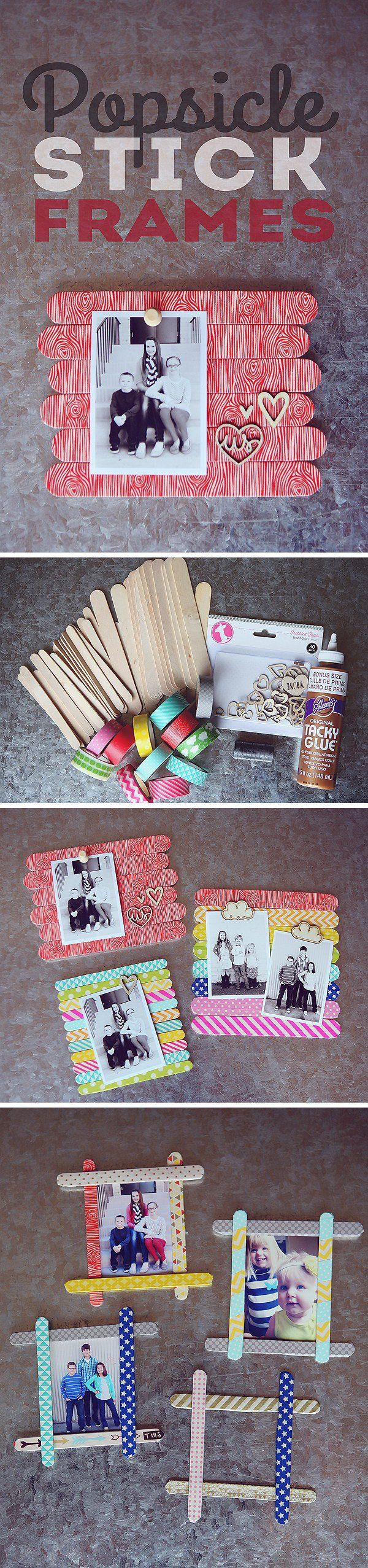 17 best images about craft stick picture frames on for Popsicle stick picture frame christmas