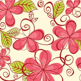 Vector gratis de Patrón con dibujos de flores