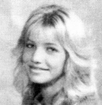 6. Cameron Diaz Cameron was such a pretty little girl. I adore the feathered hair-do!Before: