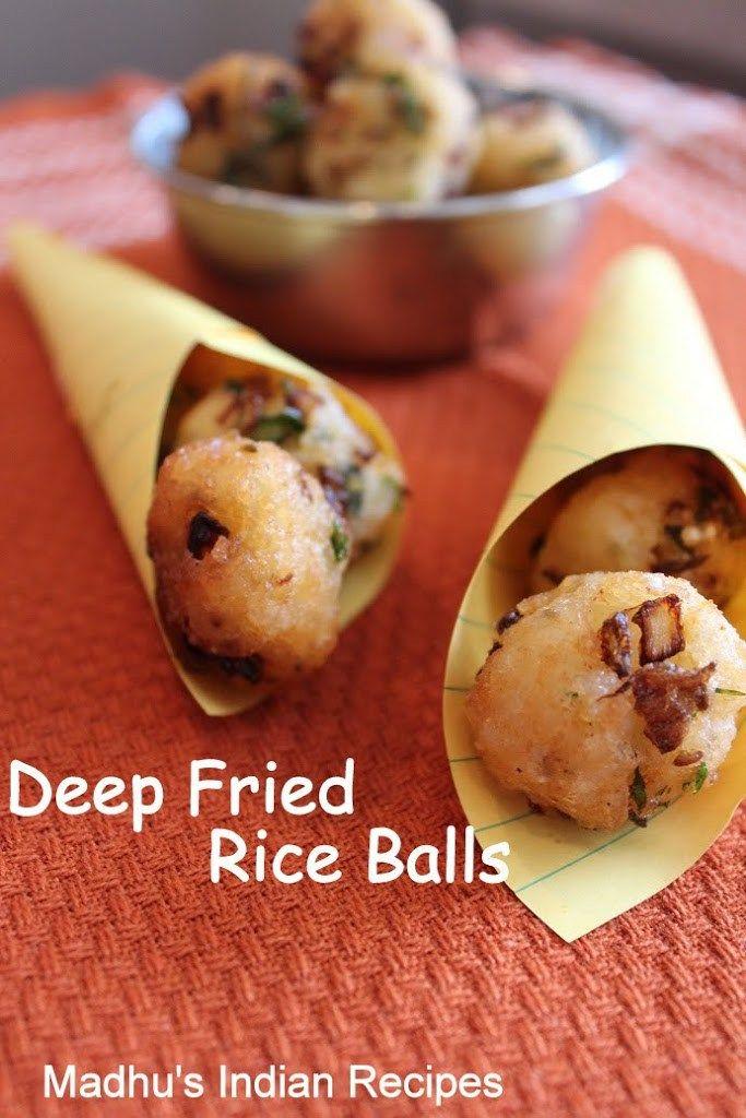 Deep fried Rice Balls | Rice bonda |Indian Snack Item