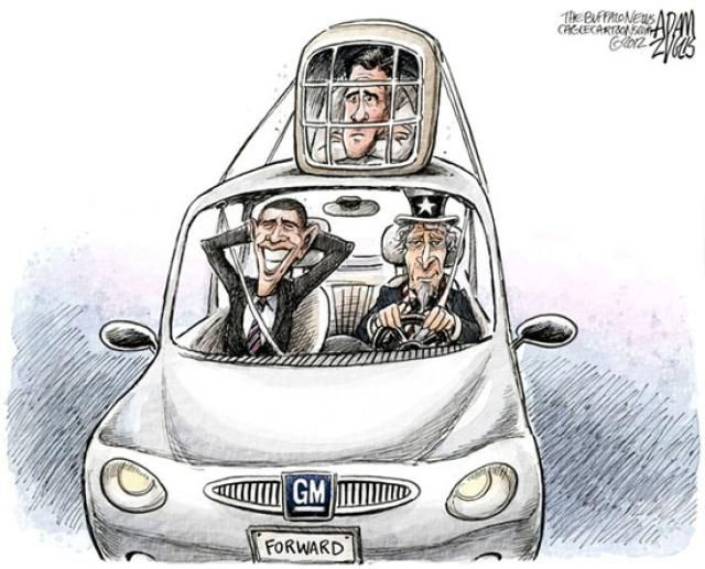 Political Cartoons of the Week: Obama Rides Bailout to Victory