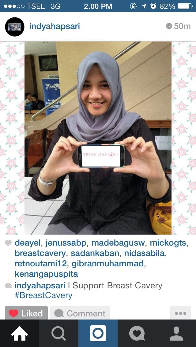 Wow! Our friend from UPN Yogyakarta support #breastcavery she help increasing awarness of people about breast cancer