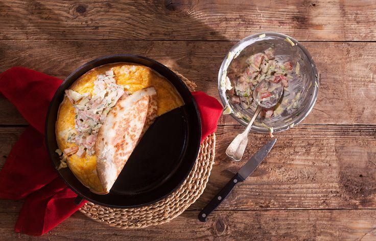 Τορτίγια με ομελέτα και αβοκάντο