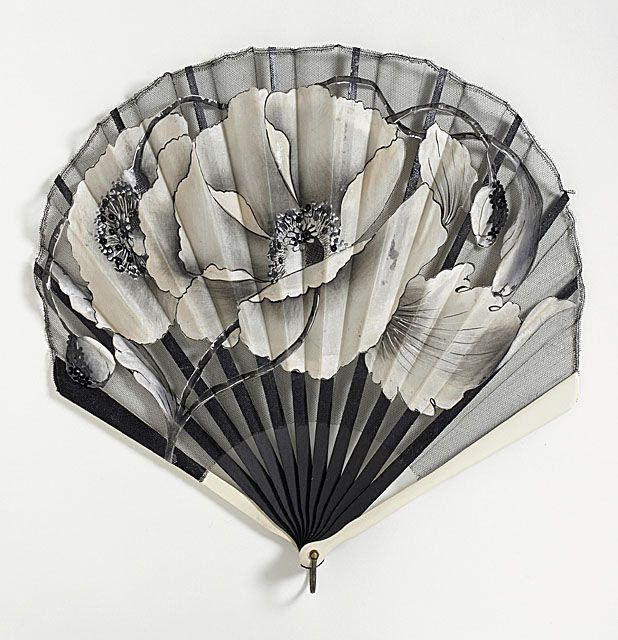 Folding Fan  France or Spain  circa 1920