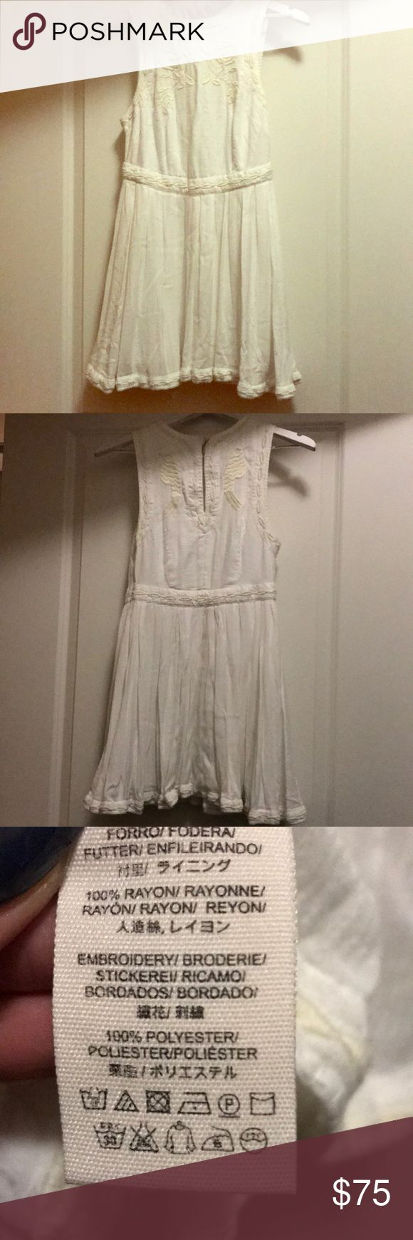 Free People White Dress Used. Great condition, no stains! Just needs ironed or steamed to remove wrinkles. Size 2. Comes from pet and smoke free environment. Free People Dresses Mini