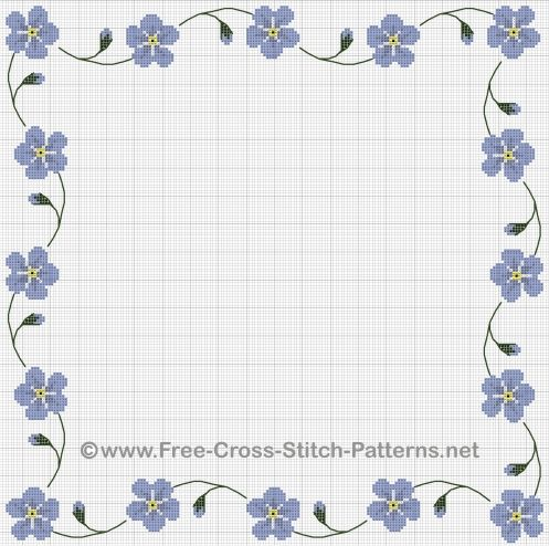 Cross Stitch Borders | A Victorian forget-me-not cross stitc… | Flickr