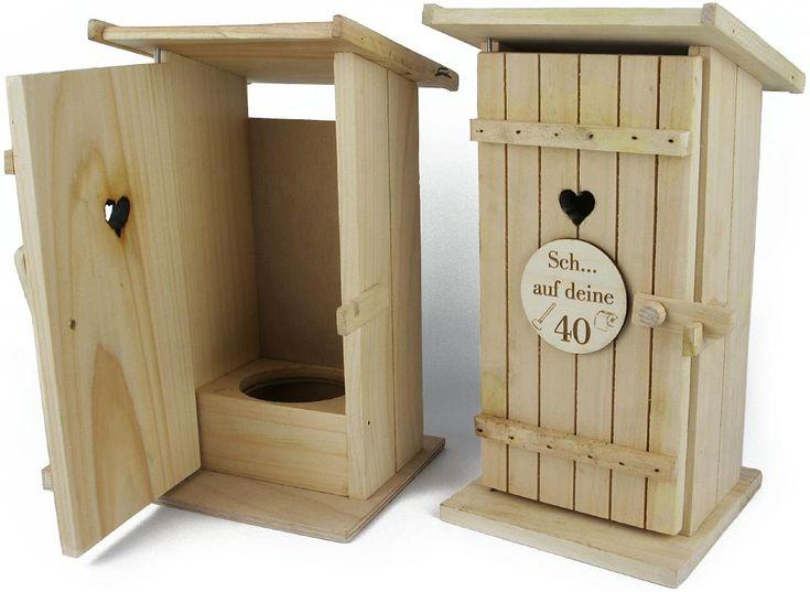 Toilettenhaus groß für Schnapsflaschen | Haushalt / Gastronomie | Holz Frank - Großhandel