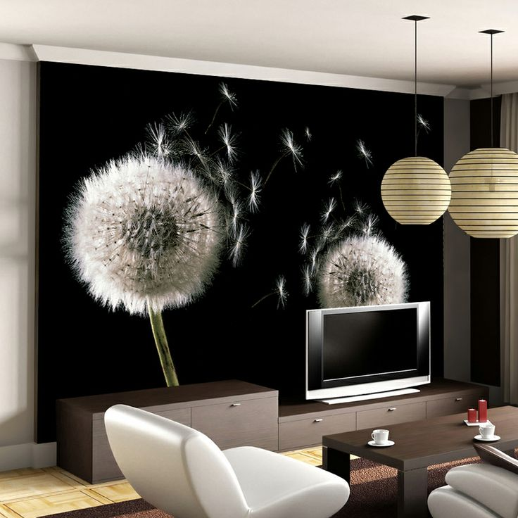 Large mural tv background wallpaper wallpaper non woven for Dandelion wall mural