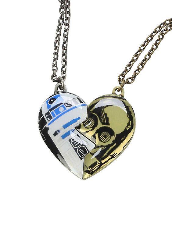 Star Wars R2-D2 & C-3PO Best Friends Necklace Set,