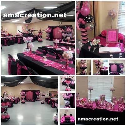 Pink And Black Birthday Cakes Pinterest