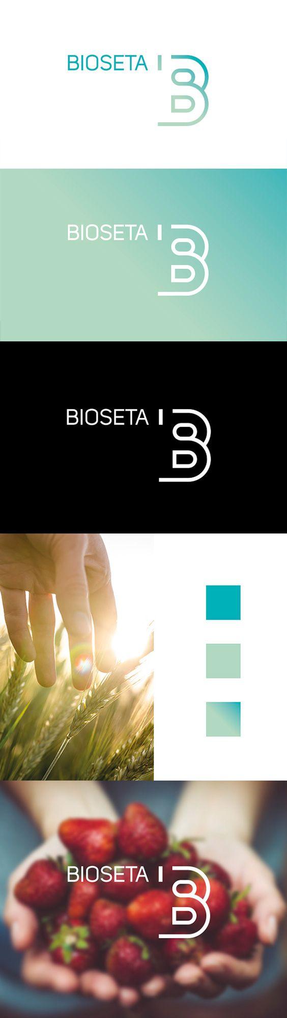 """El diseño del logotipo para la empresa Bioseta nace a partir del propio nombre de la marca. Para el símbolo se escogió utilizar la letra """"B"""" con una combinación de líneas orgánicas y rectas, y con un estilo atemporal."""