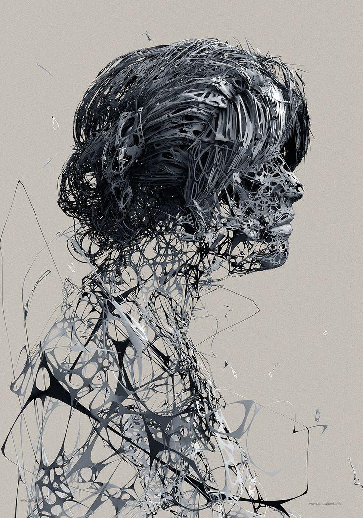 Profilove III by Janusz Jurek #digital #art