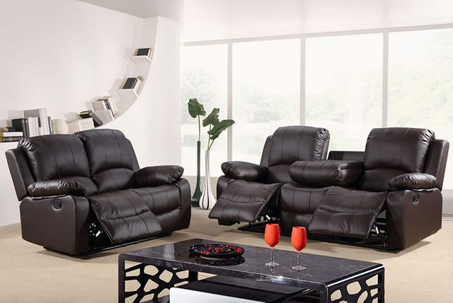 Verona Leather Sofa Suite 2 Colours Delivery Included Three Seater Sofa Bed Leather Recliner Reclining Sofa