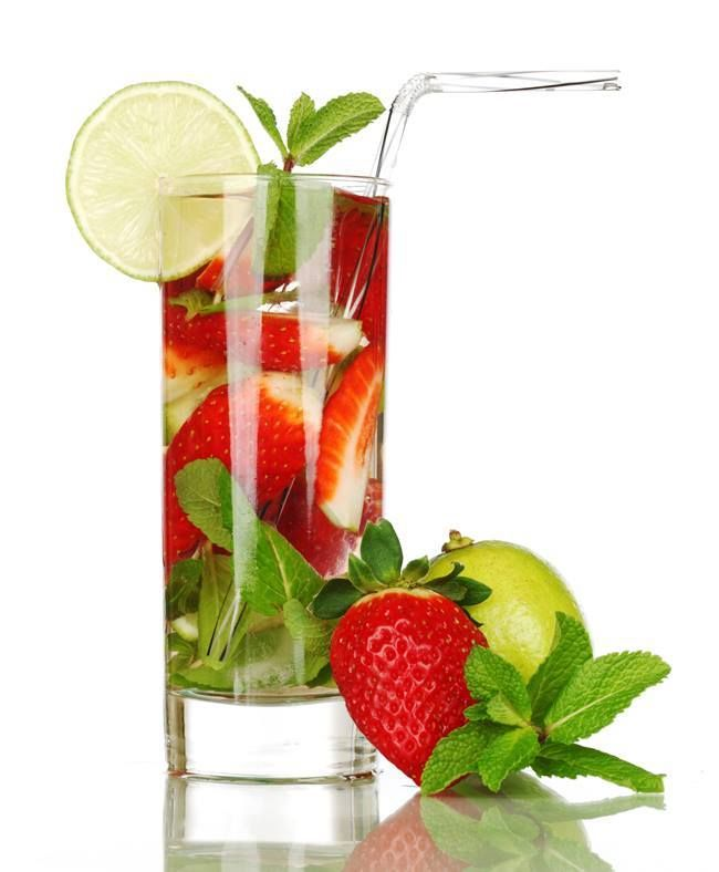 #mint #strawberry #glass #fresh
