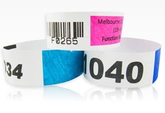 Barcoded Tyvek Wristbands