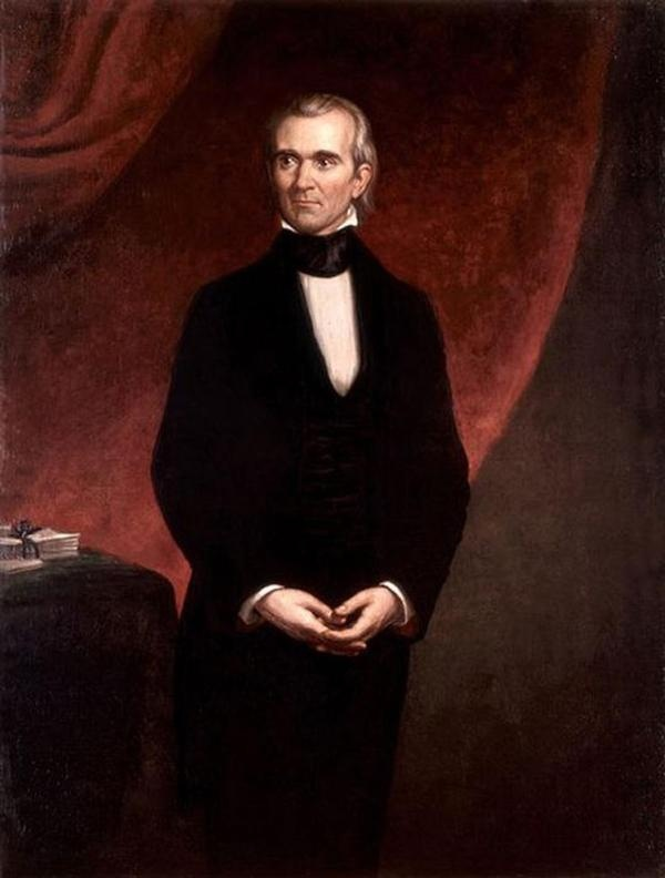 Portrait of James K. Polk, 11th President of the United States (1858) by George…
