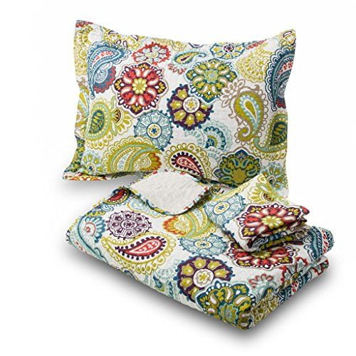 Amadora Luxury Queen Quilt Set with Shams Elle Queen Features Bright and Attractive Colors, a Wonderful Design and Rich Textures; Durable and Designed for Years of Use, This Warm Yet Lightweight Quilt Can Be Used Year Round with Virtually No Maintenance Amadora http://smile.amazon.com/dp/B00KM3EZGA/ref=cm_sw_r_pi_dp_70U8wb1AYB0EV