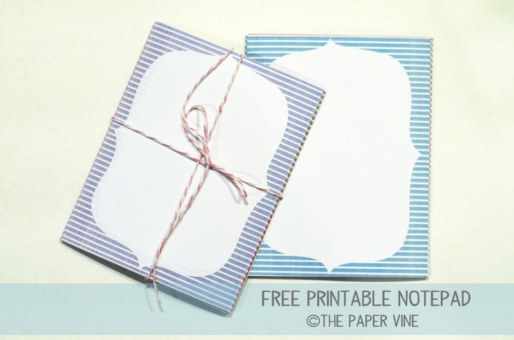 Printable Notepad Paper Entrancing 14 Best Printables Images On Pinterest  Monogram Monograms And .