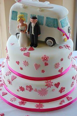 Dotty about Cake: Kombi Campervan Wedding Cake #kombilove #kombiweddings