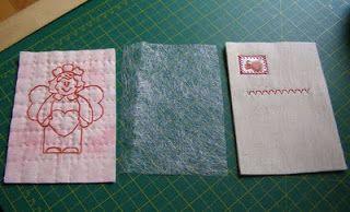 Patchwork notes/Лоскутные заметки.: Открытки из ткани делаем сами.