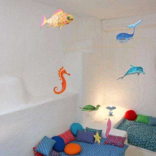 Mobile poissons - Petit Pan - vivre en multicolore