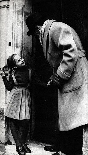 "But Simenon was above all the ""Great Dad"" as she said lovingly, of Marie-Jo. She is seven in this photo which shows the fascination of which he was the object. From infancy she had formed an attachment which linked them. Marie-Jo, fledgling actress, committed suicide in Paris at age 25."