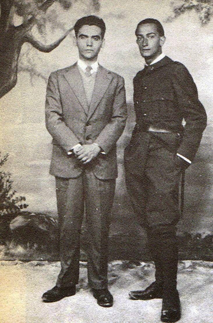 11. Lorca y Dali, cuando este hacía el servicio militar en 1927