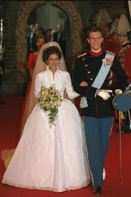First Wedding of Prince Joachim of Denmark with Alexandra Christina Manley in Nov 1995