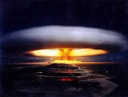 A nuclear explotion is a explotion that is cause of bombs very very stronger and dangerous.