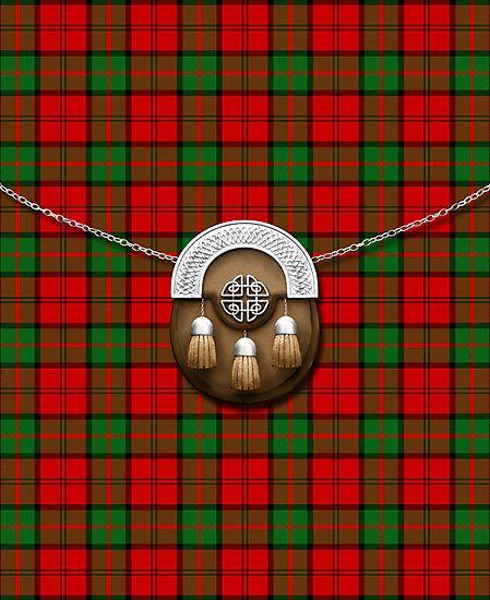 Clan Dunbar Tartan And Sporran by thecelticflame