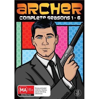 JB Hi-Fi | Archer - Season 1-6 12 DVD