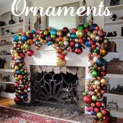 ornament mantle - LOVE LOVE LOVE!: Ideas, Glasses Ornaments, Fireplaces, Holidays, Christmas Ball, Garlands, Christmas Decor, Mantles, Christmas Mantels