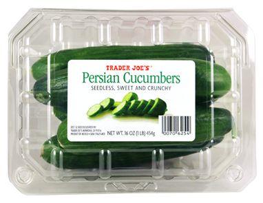 Trader Joe's Persian Cucumbers  16oz/454g  $2.49